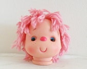 Strawberry Shortcake Doll Head Large with Pink Yarn Hair