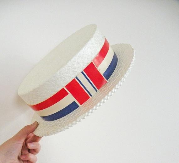 Vintage Styrofoam Skimmer Hats Patriotic Political By Mothrasue