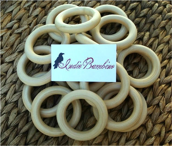 RESERVED,  25 UNFINISHED Organic Wooden Teething Rings