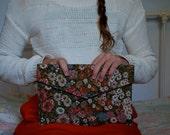 Floral Tapestry Envelope Clutch-1960's-Shirl Miller Ltd.