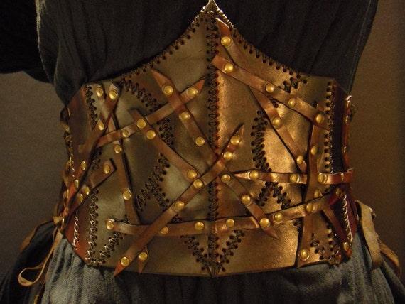 Steampunk leather corset - Wild -