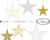 STARLIGHT Printable Digital Clipart Personal and Small Commercial Use