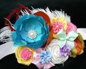 Carnival Belly Bloom Maternity, Bridal, Formal Belt Sash Photo Prop