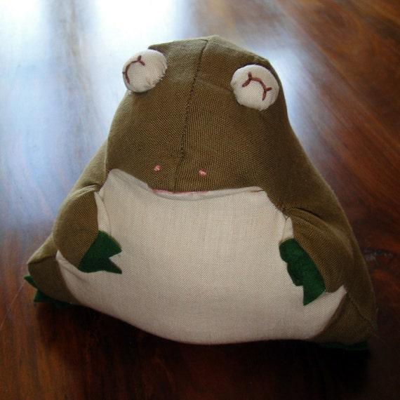 Handmade Franklin Frog Door Stop / Bookend / Paperweight