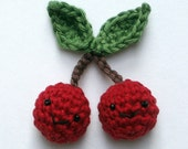 cherries,  crochet amigurumi