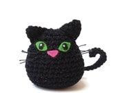 cat, crochet cat, amigurumi cat, black cat
