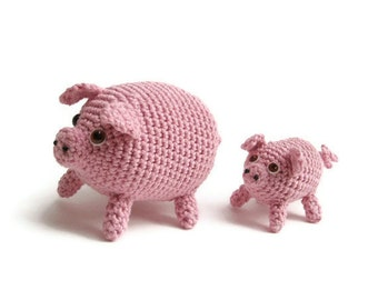 micro pig and piglet crochet pattern PDF