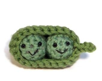 two peas in a pod crochet amigurumi, valentine