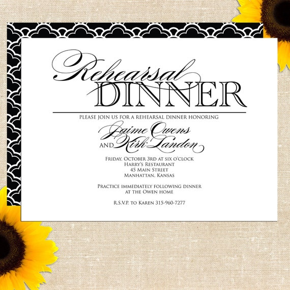 Etsy Rehearsal Dinner Invitations for perfect invitations example