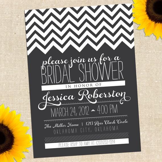 Diy Chalkboard Wedding Invitations: MEMORIAL DAY SALE Chalkboard Bridal Shower By