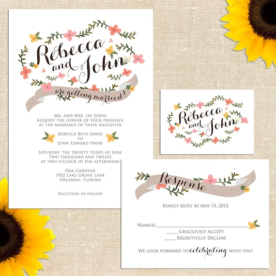Carolina Wedding Invitation
