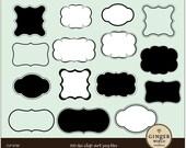 Label Frames Clip art commercial use CU (CLP0100)