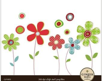Flower Clip art Digital Illustration PNG (CLP0055)