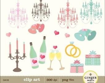 Wedding day clip art, printable for scrapbooking, wedding invitation