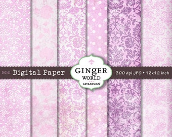 Pink Texture Digital Paper pack for scrapbooking DIY invitation