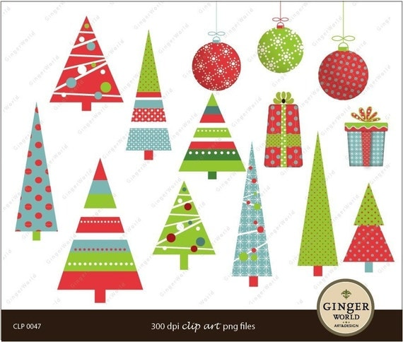Items similar to Modern chic christmas tree element ...