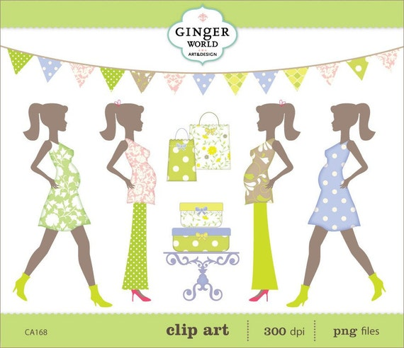 Expecting A Baby Clipart chic mom to be ...