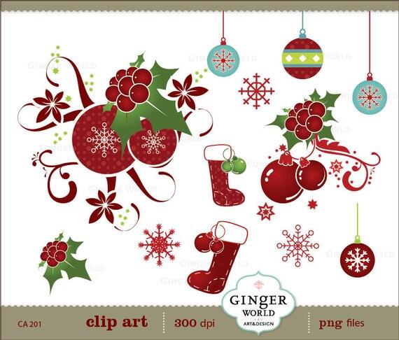 christmas clipart etsy - photo #10