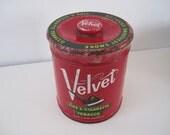 Vintage Tin Velvet Tobacco Can