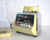Vintage Osterizer Blender Pulse Matic Dual Range 16 Gold Yellow