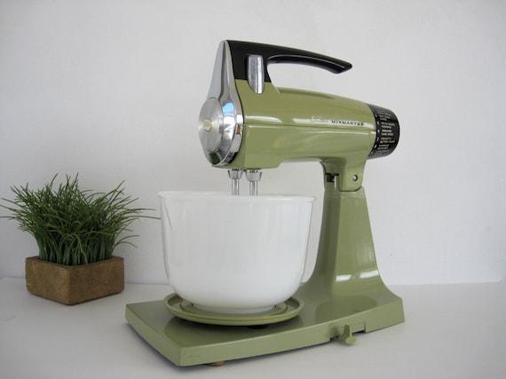 Sunbeam Electric Stand Mixer ~ Vintage avocado electric mixer sunbeam by brooklynstvintage