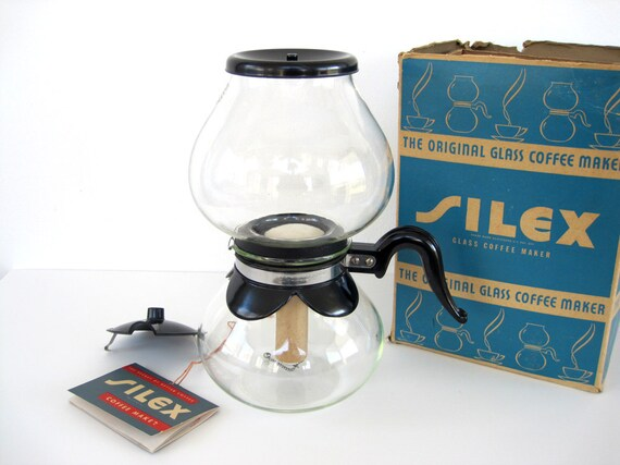 Lab Glass Coffee Maker : Vintage Coffee Maker Silex Pyrex Glass Vacuum Pot New