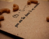 "recycled brown bag valentine's day card, ""cheesy love"" 2012"