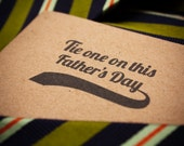 "recycled brown bag 2012 father's day card - ""tie one on"""