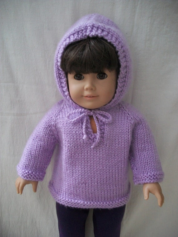 PDF Knitting Pattern for American Girl or 18 Doll Top