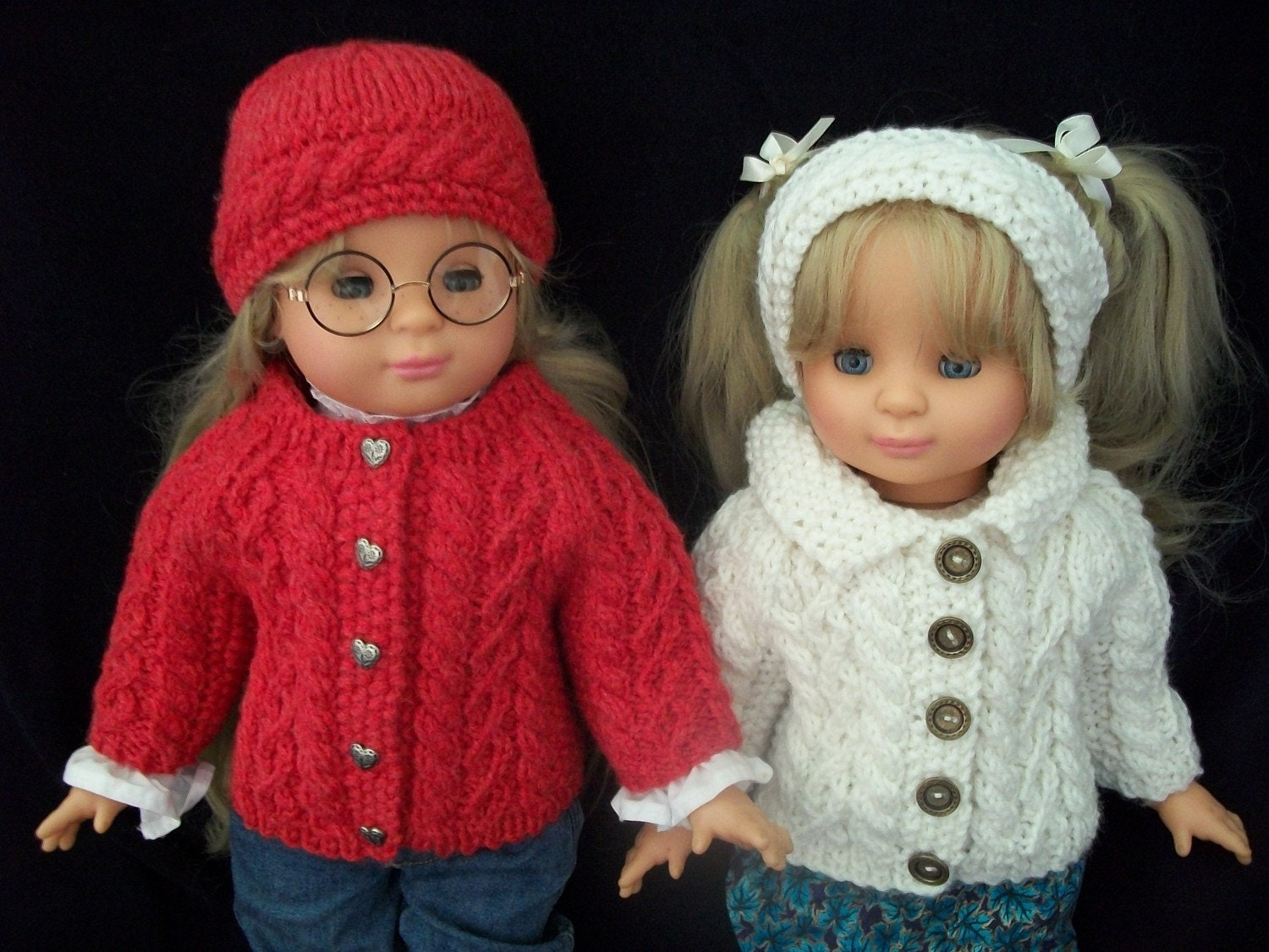 Knitting Pattern 18 Inch Doll : 18 inch Doll Knitting Pattern All Over Cable by lagaladesigns