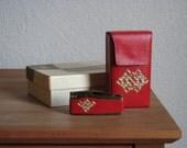 Vintage Red Case and Lighter Set