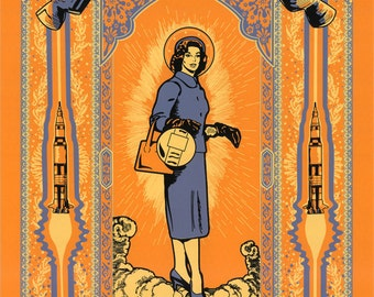 "The American Mary (Silkscreen Print) - 18"" x 24"""