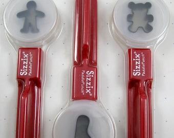Sizzix Paddle Punch Set  Boy, Foot, Bear No. 38-0874