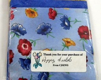 Poppy Fields 40 - 4 inch Fabric Quilt  Squares