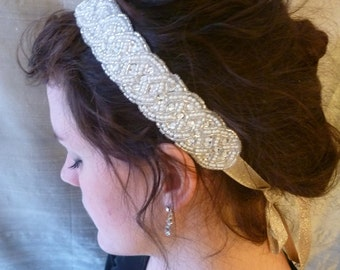 Lucia Bead and Pearl Headband