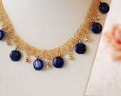 Necklaces Crochet GF14K With Lapis Lazuli (Reserved for Tamer to 25.09. 2011)