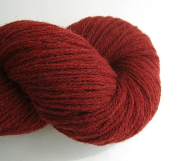 DK Recycled Wool Yarn, Maroon, 180 Yards