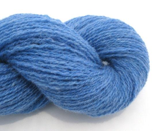 Sky Blue Shetland Wool Yarn, Fingering Weight, 320 Yards
