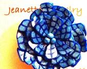 clay millefiori flower pin