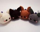 Kawaii Tofu Bunny Rabbit Plush Keychain Stuffed Toy