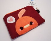 Pudding Chicken Coin Pouch fits mp3 players ipod change money cell phones