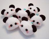 Panda Bear Plush Keychain kawaii stuffed toy in soft fleece