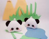SALE Pudding Zoo Animal Keychain Kawaii Plush Toy: Panda, Giraffe, Lion, Tiger or Zebra