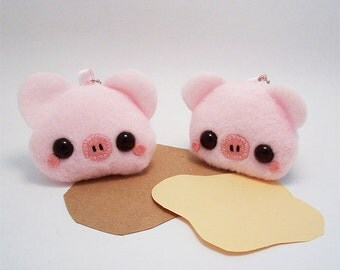 SALE Pudding Animal Plush Keychain Kawaii Stuffed Toy: Pig Cow Mouse Cat or Horse