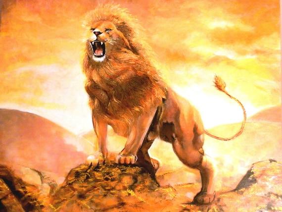 Lion Roar Painting