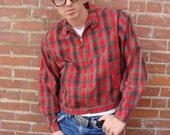 1950s Red Plaid SPARTAN Rockabilly Greaser James Dean Jacket