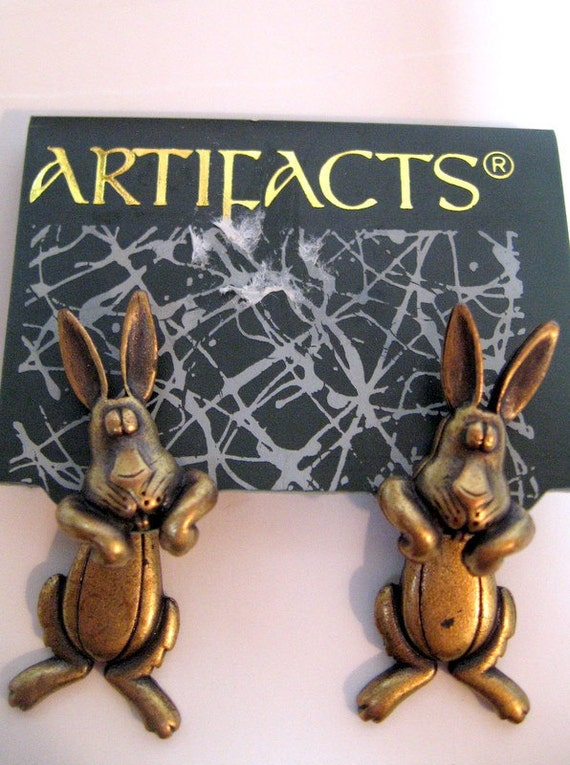 Jonette Jewelry Vintage Funny Bunny Earrings