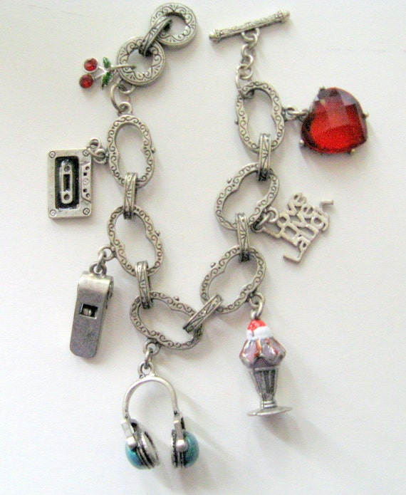 Vintage Love Live Laugh Multi Charm Bracelet