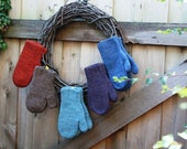 Cozies Felted Wool Mittens - Knitting Pattern PDF