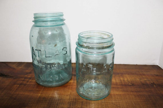 Blue Masons Jar by Atlas - Pair of Mason Jars